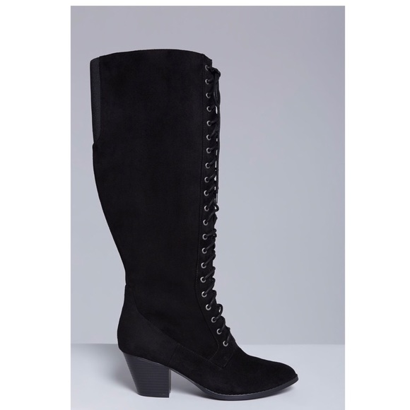 84248fea053 Lane Bryant tie up boots wide calf
